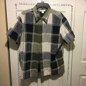 Dress Barn Tops - Any 2 ✅for $15 Plaid Short Sleeve button Up