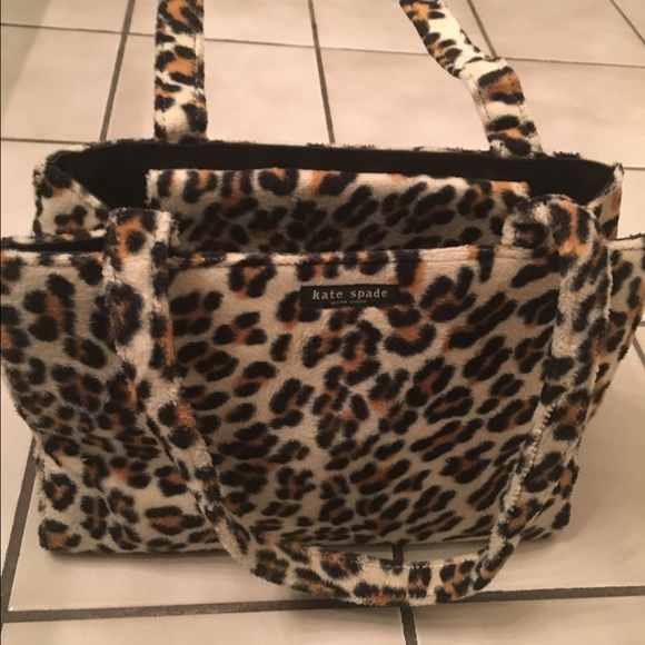 kate spade Handbags - Kate Spade Vintage Fuzzy Leopard Print Bag a26ac46b49