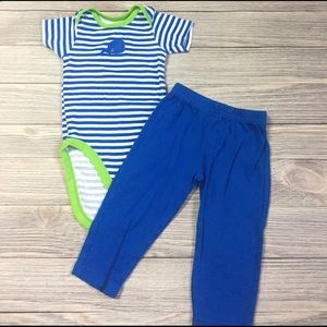Gerber Other - Striped Whale Outfit