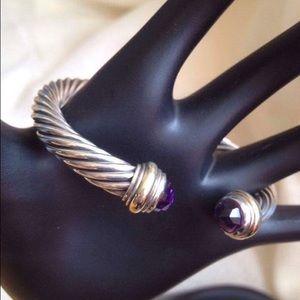 David Yurman Jewelry - DY amethyst cable bracelet
