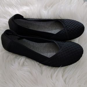 Anthropologie Shoes - Seychelles Stretchy Black Woven Ballet Flats