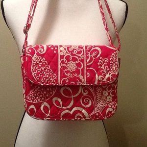 Vera Bradley Handbags - Vera Bradley Crossbody Handbag Fuchsia Pink White