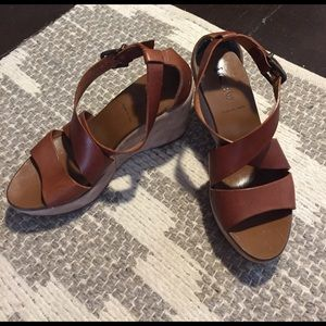J. Crew Shoes - J. Crew leather wedge sandals