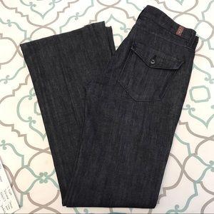 """7 For All Mankind Denim - NWOT! 💙👖7 FAM Trouser Jeans!👖💙27 3/4 32"""" Dark!"""