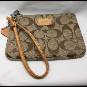 Coach Handbags - Signature Coach Wristlet NWOT