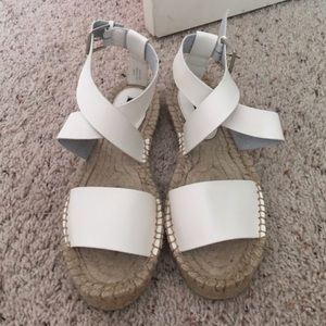 Shoes - Forever 21 white espadrille shoes