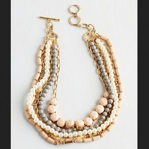 ModCloth Jewelry - NWT ModCloth Yes You Glam Necklace in Blush
