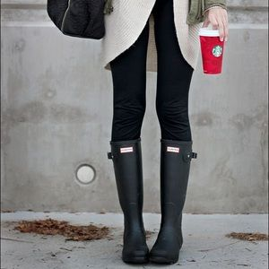 Hunter Tall Gloss Black Rain Boots