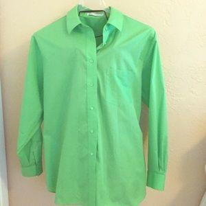 Foxcroft Tops - FOXCROFT bright green blouse