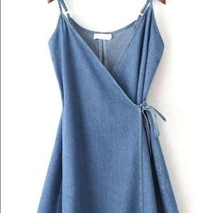 Denim wrap sundress
