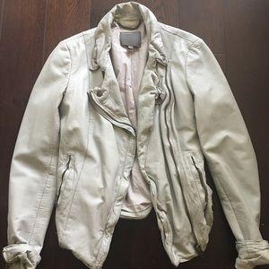 Muubaa Jackets & Blazers - Muubaa Stone Leather Jacket US2