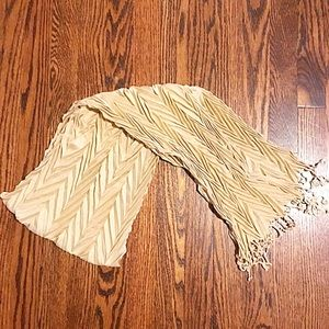 🐌Tan Accordion Scarf