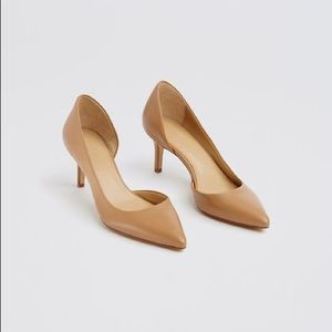 Ann Taylor Shoes - Ann Taylor Nude Camel Mari D'Orsay Pumps