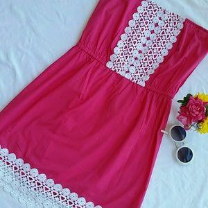 Mud Pie Dresses & Skirts - MUDPIE Fuscia strapless cotton dress