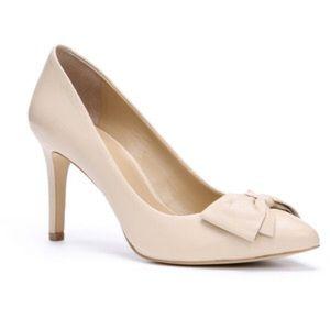 Ann Taylor Shoes - Ann Taylor Pink/Bone Brogan Bow Pumps