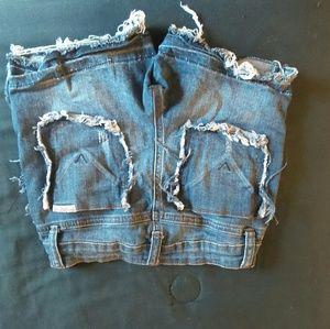 Hudson cut off jean shorts