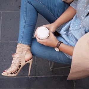 Strappy leather heals