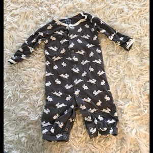Kickee Pants Other - KicKee Pants Bunny Layette Coveralls