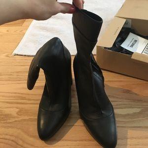 Zara High Heel Leather Booties