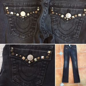 True Religions studded black wash