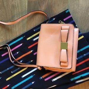 Merona Peach Crossbody Bow Bag
