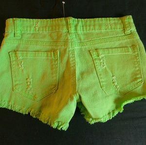 Butter cut off jean shorts