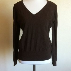 H&M Brown V-neck Sweater
