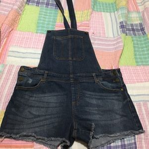 Large overall shorts