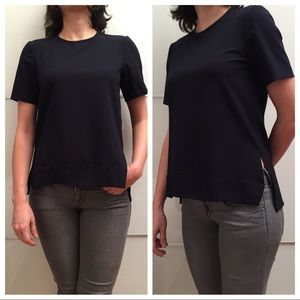 Zara High Low Short Sleeve Top EUC