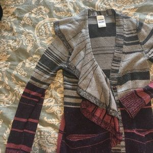TSE Sweaters - Grey pink cashmere blend cardigan