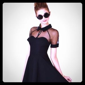 Choies Dresses & Skirts - Goth Skater Dress with Collar