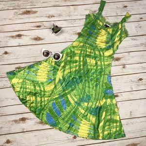 Komarov Dresses & Skirts - NWOT Komarov Lime Yellow Lace Crinkle Sundress