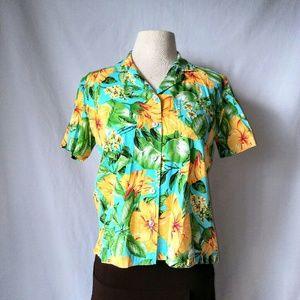 Pappagallo Tops - PAPPAGALLO Hawaiian Shirt