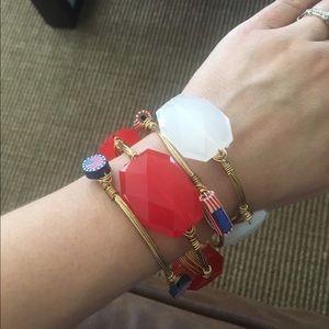 Bourbon and Bowties Jewelry - Patriotic Bangle Set
