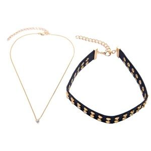 Jewelry - ⚜️Gold studded choker and separate necklace in one