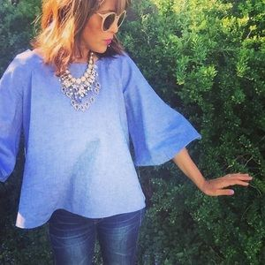 Zara bell sleeves Blouse