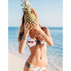 Stone Fox Swim Other - 🆕 Reversible Pineapple Bikini 🍍