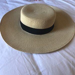 Straw big brim hat