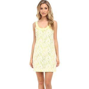 Trina lace-blocked dress