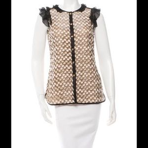 TORY BURCH Embellished Lace Top