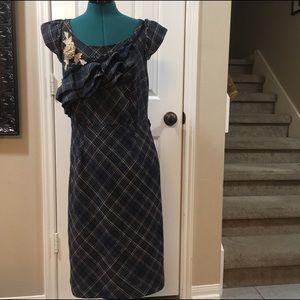 Anthropologie Dresses & Skirts - Anthropologie Floreat dress lace, flower, & plaid