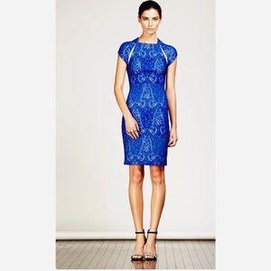 Yigal Azrouel Dresses & Skirts - Yigal Azrouel Jacquard stretch leather trim dress