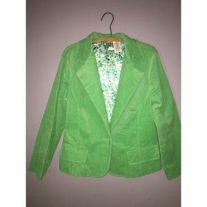 Green Corduroy Blazer Sz 1X Junior