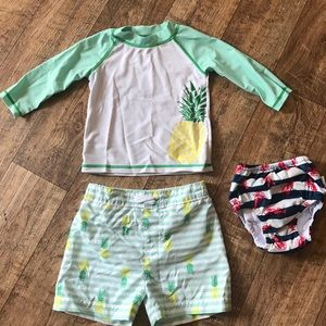 Carter's Other - Baby boy swim suit set & swim diaper