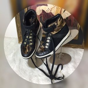 Michael Kors Shoes - Like New Michael Kors High Top Sneakers. Sz 9.5.