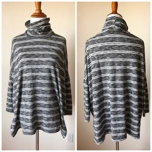 Anthropologie Sweaters - Anthropologie Postage Stamp Striped Turtleneck