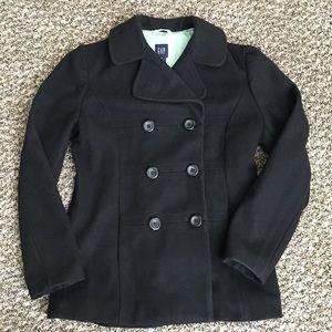 GAP Jackets & Blazers - GAP Black Peacoat
