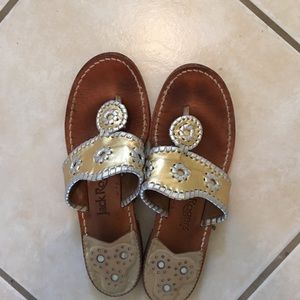Jack Rogers Shoes - Jack Rogers Sandals Gold and Silver Size 8