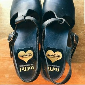 Swedish Hasbeens Shoes - Black T-Strap Swedish Hasbeens! Size 38