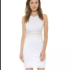 Clover Canyon Dresses & Skirts - Clover canyon laser cutout white dress small